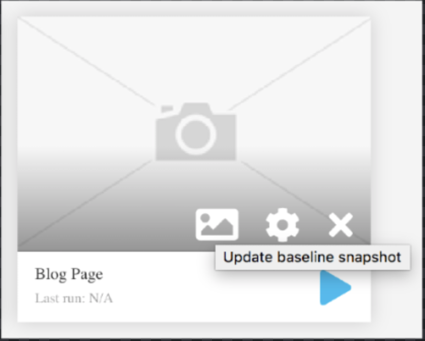 Snapics visual regression testing - Test without base snapshot
